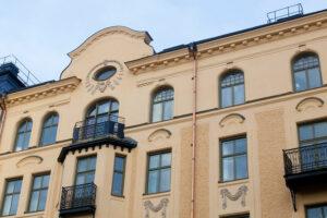 Sekelskifteshus fasadrenovering odenplan